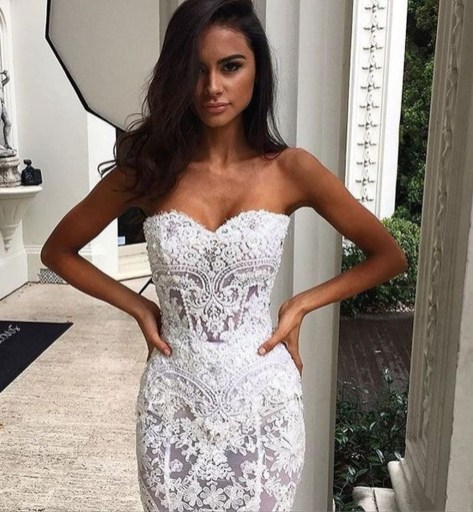 Newest Lace Sweetheart Wedding Dresses Ideas For Spring35