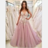 Pretty V Neck Tulle Wedding Dress Ideas For 201923