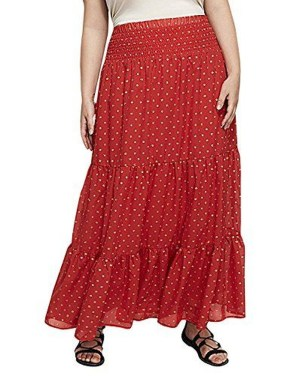 Delicate Polka Dot Maxi Skirt Ideas For Reunion15