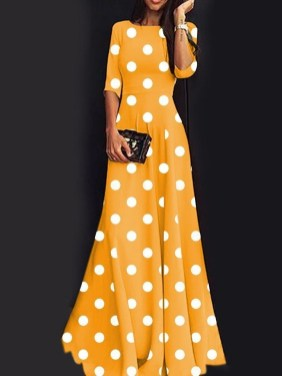 Delicate Polka Dot Maxi Skirt Ideas For Reunion17