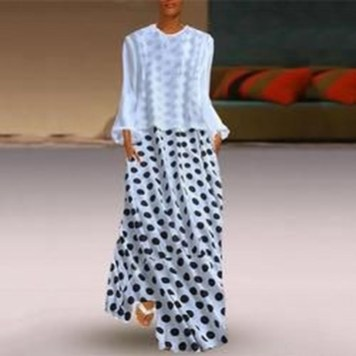 Delicate Polka Dot Maxi Skirt Ideas For Reunion25