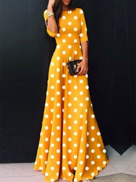Delicate Polka Dot Maxi Skirt Ideas For Reunion26