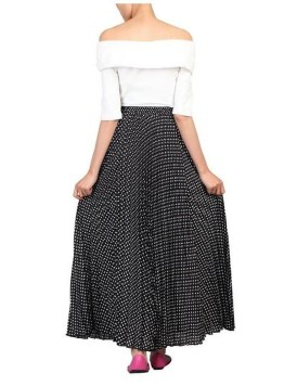 Delicate Polka Dot Maxi Skirt Ideas For Reunion27