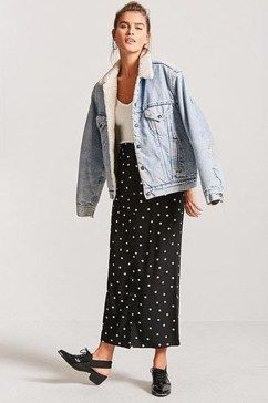 Delicate Polka Dot Maxi Skirt Ideas For Reunion33