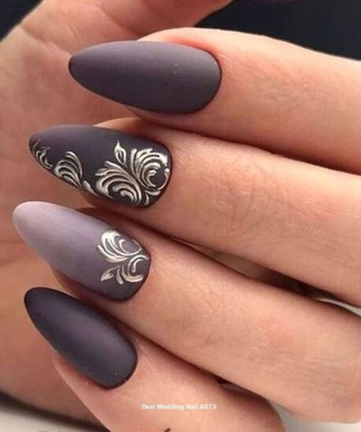 Inspiring Nail Art Ideas For Wedding Party14