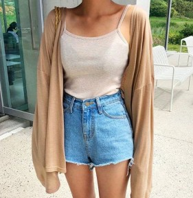 Gorgeous Summer Outfit Ideas With Cardigans For Women05