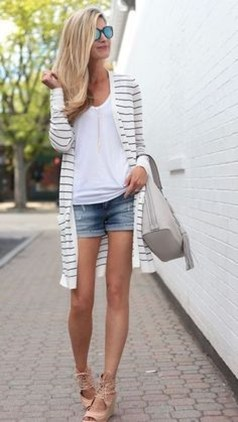 Gorgeous Summer Outfit Ideas With Cardigans For Women18