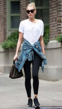 Inspiring Summer Outfits Ideas With Leggings To Try31