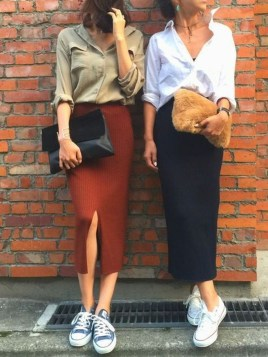 Attractive Sneakers Outfit Ideas For Fall And Winter26