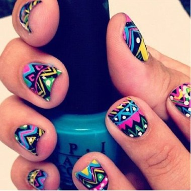 Cozy Aztec Nail Art Designs Ideas You Will Love To Copy04