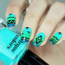 Cozy Aztec Nail Art Designs Ideas You Will Love To Copy18