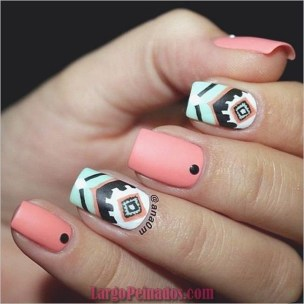 Cozy Aztec Nail Art Designs Ideas You Will Love To Copy20