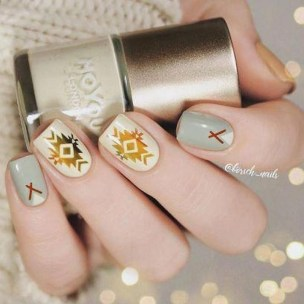 Cozy Aztec Nail Art Designs Ideas You Will Love To Copy21