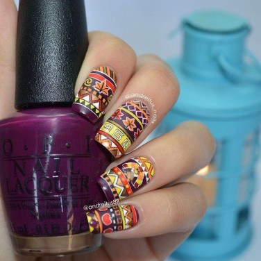 Cozy Aztec Nail Art Designs Ideas You Will Love To Copy25