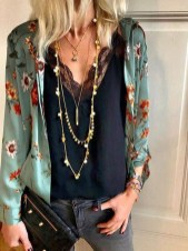 Cozy Combinations Ideas With Floral Blazers You Must Try10