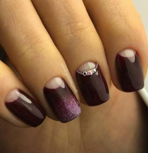 Creative Half Moon Nail Art Designs Ideas To Try34