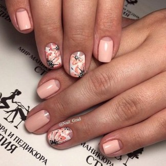 Creative Half Moon Nail Art Designs Ideas To Try39