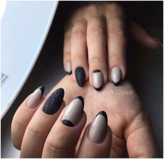 Creative Half Moon Nail Art Designs Ideas To Try40