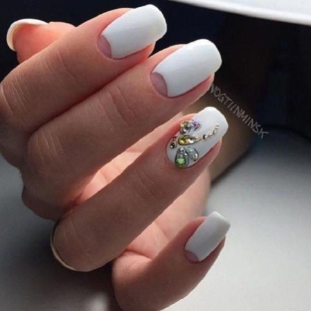 Creative Half Moon Nail Art Designs Ideas To Try44