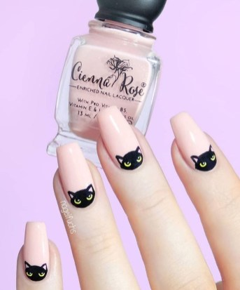 Creative Half Moon Nail Art Designs Ideas To Try50