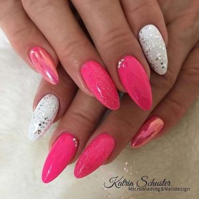 Fashionable Pink And White Nails Designs Ideas You Wish To Try05