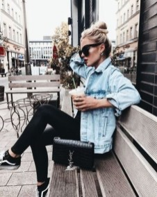 Flawless Outfit Ideas How To Wear Denim Jacket01