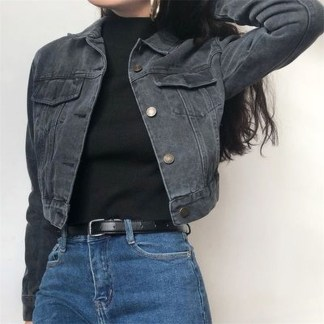 Flawless Outfit Ideas How To Wear Denim Jacket24