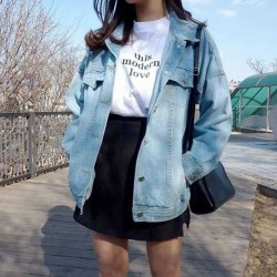 Flawless Outfit Ideas How To Wear Denim Jacket40