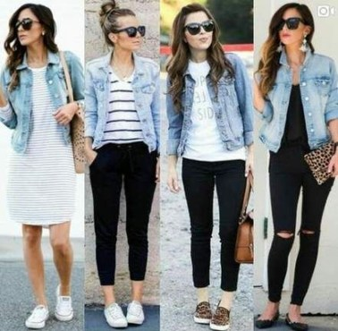 Flawless Outfit Ideas How To Wear Denim Jacket42