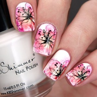 Unusual Watercolor Nail Art Ideas That Looks Cool12
