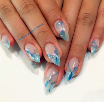 Unusual Watercolor Nail Art Ideas That Looks Cool18