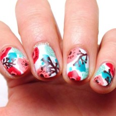Unusual Watercolor Nail Art Ideas That Looks Cool23