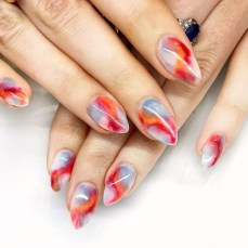 Unusual Watercolor Nail Art Ideas That Looks Cool24