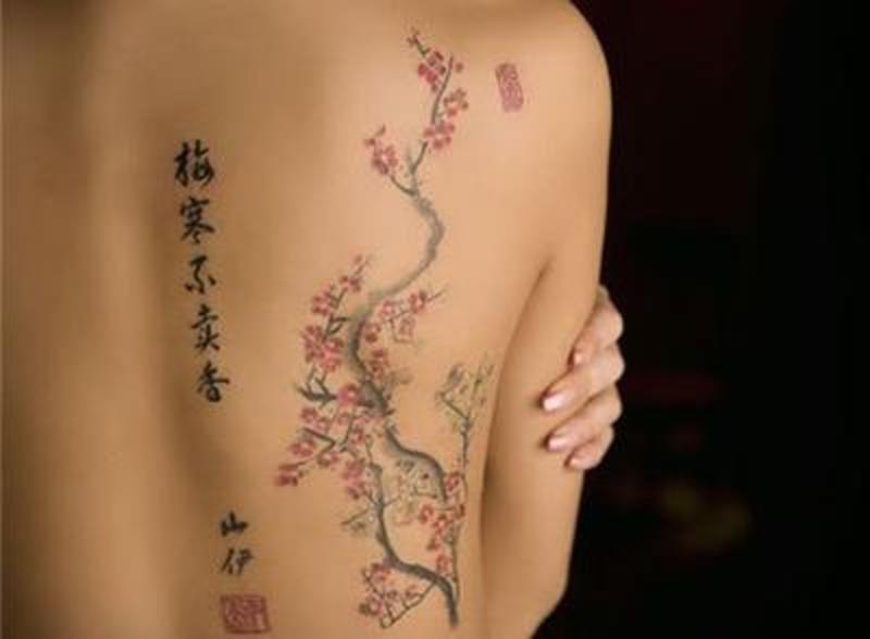 Tatuaje De Cerezos Addictattoo