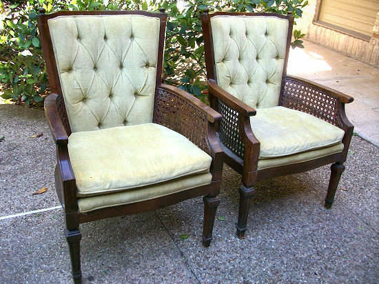 Part 1  How to Reupholster An Occasional Chair With Cane