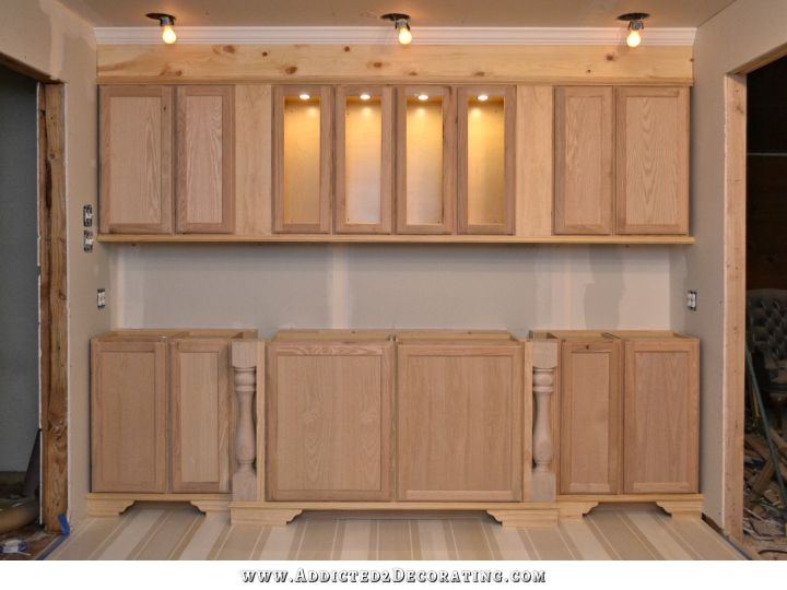 The Wall Of Cabinets Build Is Finished (In-Cabinet Lights
