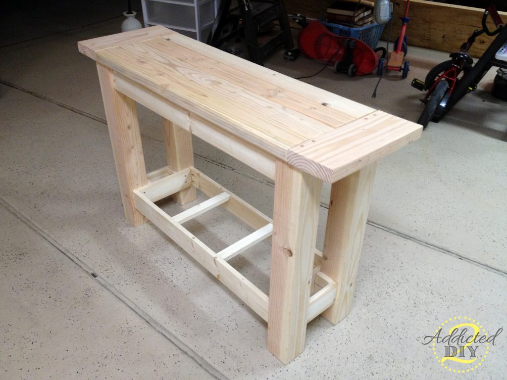 building a sofa table queen bed foam mattress diy console plans free download build