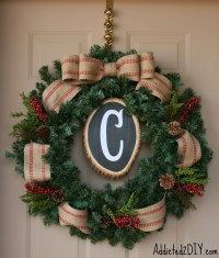 DIY Monogram Wreath - Addicted 2 DIY