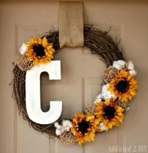 Fall Monogram Wreath - Addicted 2 Diy