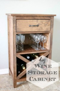 DIY Wine Storage Cabinet - Addicted 2 DIY