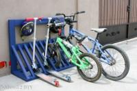 Simple DIY Kid's Bicycle Rack with Helmet Storage ...