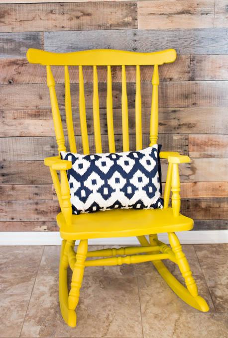 Yard Sale Rocking Chair Makeover Addicted 2 DIY