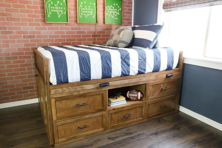 bed with hidden storage