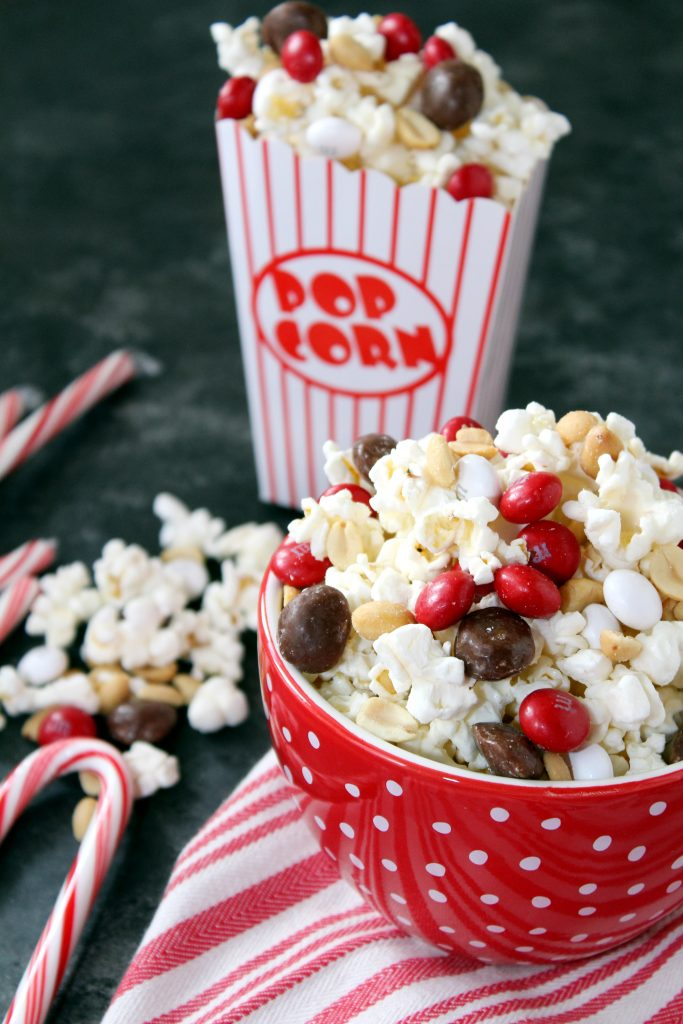 Peppermint White Chocolate Popcorn Mix Addicted To Recipes