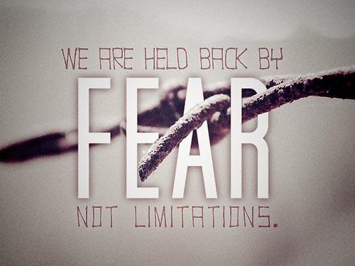 Fear Motivation Picture Quote