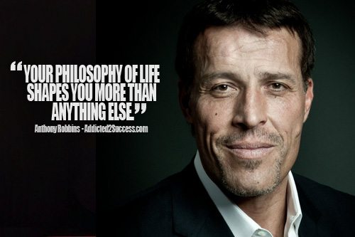Tony Robbins Inspirational Life Picture Quote