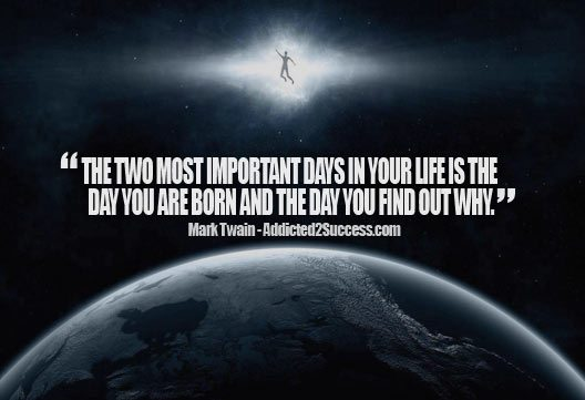 Mark Twain - Find Your Purpose Inspirational Picture Quote