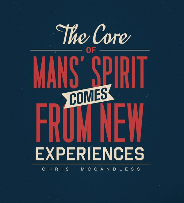Experiences Inspirational Typography Quote