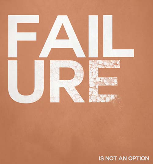 Motivational Typography Quote Failure Is Not An Option