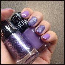 Day 6 Maybelline Blackcurrent Pop and Paparazzi Purple
